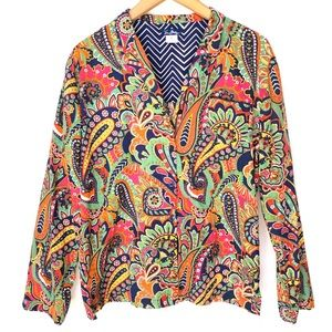 Vera Bradley Multi Color Paisley Button Down Top M